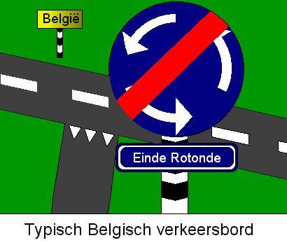 Typisch Belgisch verkeersbord