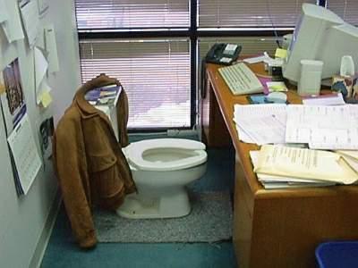 Een wc op je kantoor